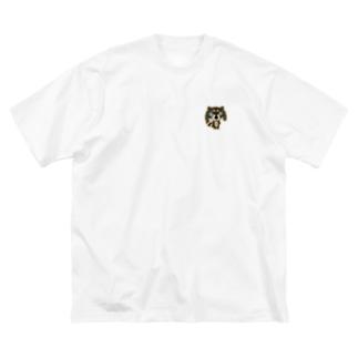SAKUちゃんアライグマ全身ver. Big silhouette T-shirts