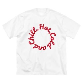 ローテーション(赤) Big silhouette T-shirts