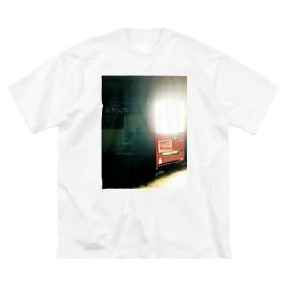 温水シャワー使い放題 Big silhouette T-shirts