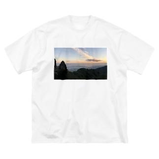 よい景色 Big silhouette T-shirts