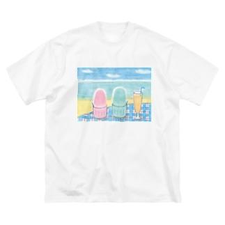 Y・S 「かき氷」 Big silhouette T-shirts