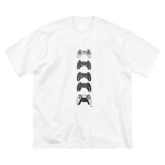 コントローラーくん Big silhouette T-shirts