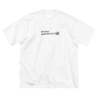のんびり生きる亀 Big silhouette T-shirts