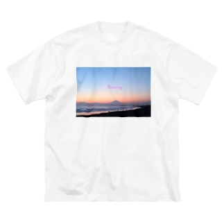 湘南夕景2 Big silhouette T-shirts