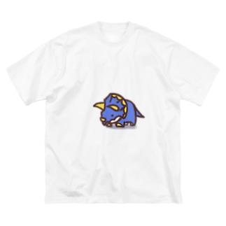 クレヨン トリケラトプスくん Big silhouette T-shirts