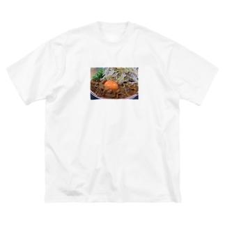 ラーメン 徳島 肉 おもしろ ギャグ ご当地 Big silhouette T-shirts