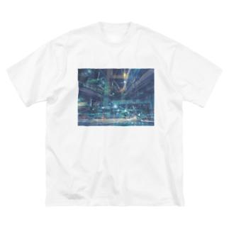 光跡 Big silhouette T-shirts