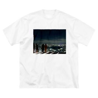 最上階 Big silhouette T-shirts