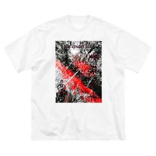 「   red spider lily   」 Big silhouette T-shirts