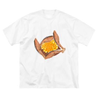はらこ飯 Big silhouette T-shirts
