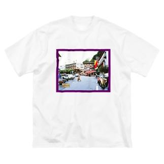 リヒテンシュタイン:ファドゥーツの街角風景 Liechtenstein: Vaduz Big silhouette T-shirts