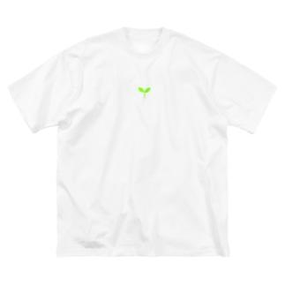 こどもの芽 Big silhouette T-shirts