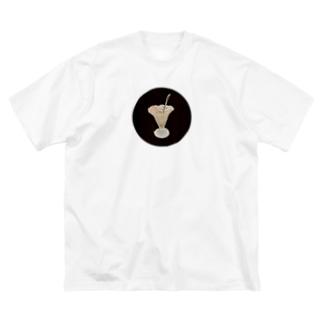 綺麗に食べましたよ、私!!② Big silhouette T-shirts