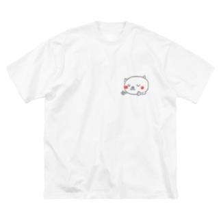 matsukingのおやすみニャんこ  Big silhouette T-shirts