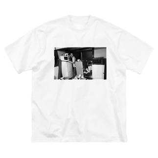 冷蔵庫廃品回収記念品 Big silhouette T-shirts