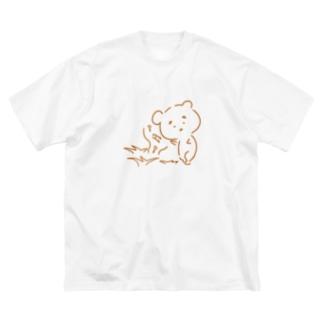 まゆ毛くまさん『虫のこえ』 Big silhouette T-shirts