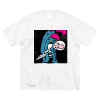 ソルジャーぺんぎんの子守唄(ララバイ) Big silhouette T-shirts
