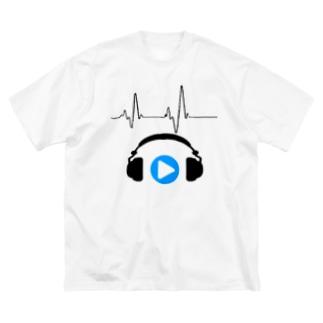 これは再生ボタン Big silhouette T-shirts