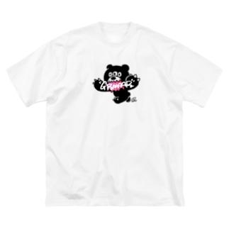 "bear ""GRAAAR"" Big silhouette T-shirts"