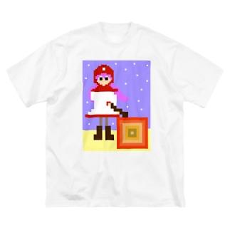 lightbluehourのムーンブルクの王女「メラ。」(from ドラゴンクエストⅡ) Big Silhouette T-Shirt