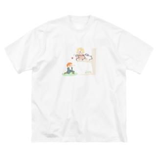二階から目薬 Big silhouette T-shirts
