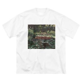 モネのマネ Big silhouette T-shirts