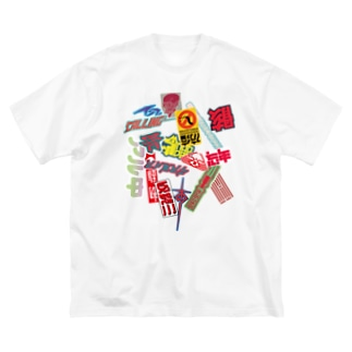 ステッカーボム Big silhouette T-shirts