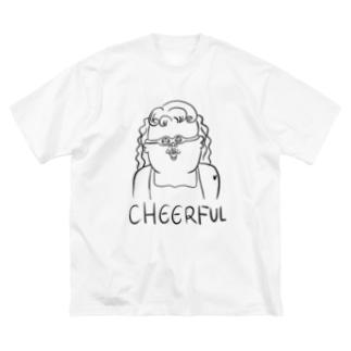 CHEERFUL GIRL Big silhouette T-shirts