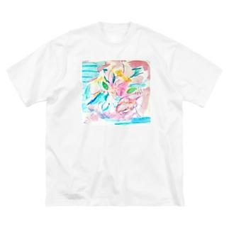 花のイロ Big silhouette T-shirts