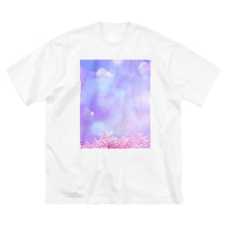 water spring Big silhouette T-shirts