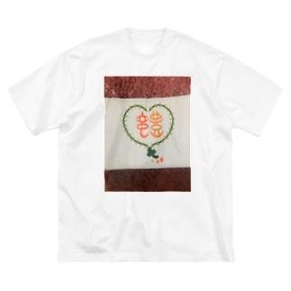 竜豊ロゴオータム Big silhouette T-shirts