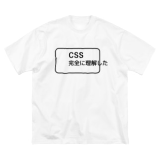 CSS完全に理解した Big silhouette T-shirts