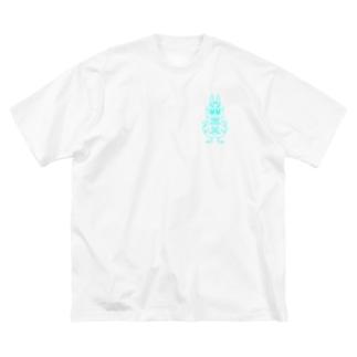 ウサギです。 Big silhouette T-shirts