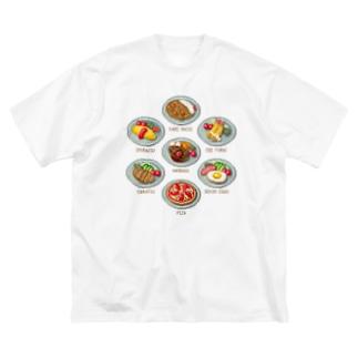 YOUSHOKU_2 Big silhouette T-shirts