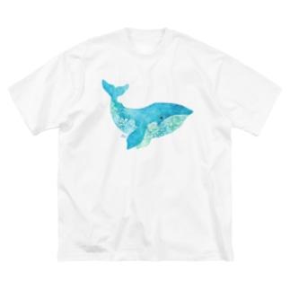 くじら2 Big Silhouette T-Shirt