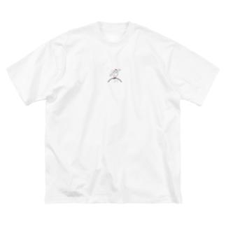 スーパーモデルゴリちゃん。 Big silhouette T-shirts