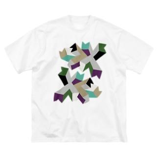 BIG ゴロT/d_007(トリミングシリーズ) Big silhouette T-shirts