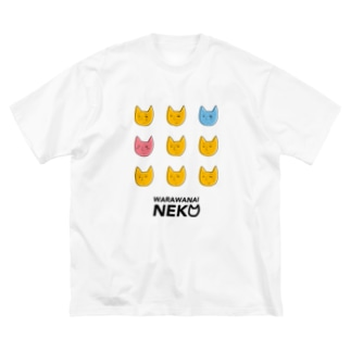 WARAWANAI NEKO Big silhouette T-shirts