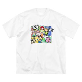 R3 Leagueテーマ Big silhouette T-shirts