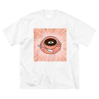 コーヒーに目がない方へ Big silhouette T-shirts