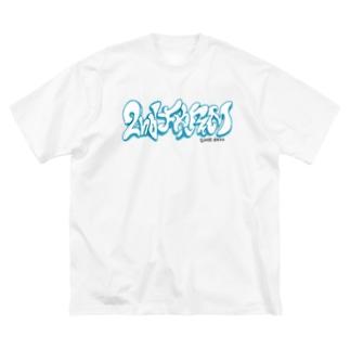 スローアップロゴ Big silhouette T-shirts