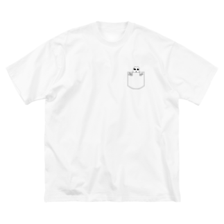 UNIQUE MANIACのガイコツポケット風Tシャツ Big silhouette T-shirts