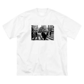 新宿の対比 Big silhouette T-shirts
