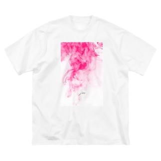 LWL+artのSmokepink Big silhouette T-shirts