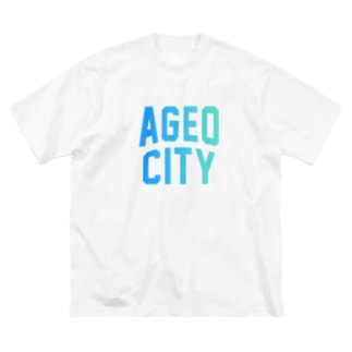 JIMOTO Wear Local Japanの上尾市 AGEO CITY Big silhouette T-shirts