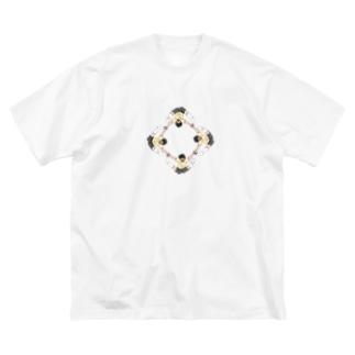 ハップのゲーム隠された少年カオスリング Big silhouette T-shirts