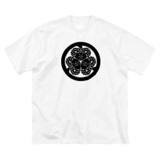 動物家紋。H.T.(三つ葉葵ハシビロコウ) Big silhouette T-shirts