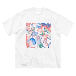 公園disco Big silhouette T-shirts