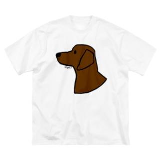 ダックスフンド Big silhouette T-shirts