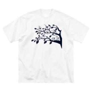 エアデールの木 Big silhouette T-shirts